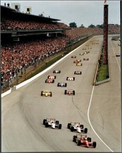 IRL Indy 500 Start Auto Racing