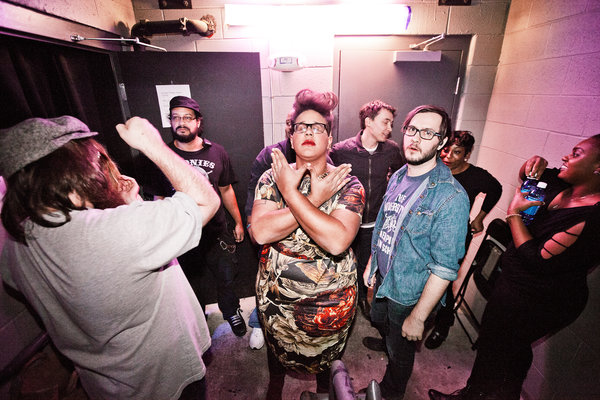 The Alabama Shakes, praying that I'll leave them alone. (Photo by Christaan Felber